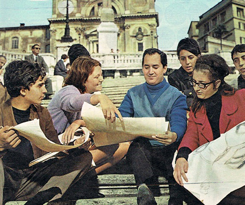 Neil Sedaka in Rome (1964): the Spanish Steps (Trinità dei Monti).