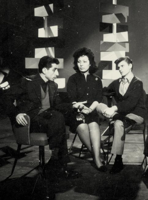 Il regista Vito Molinari con Bobby Rydell sul set di Sway