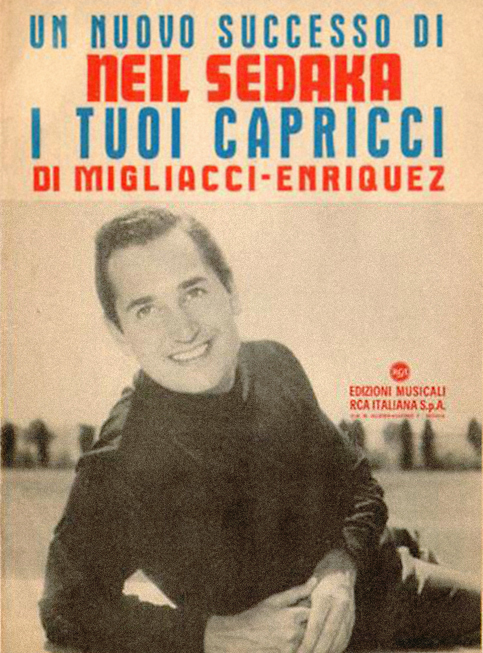 spartito &quot;I tuoi capricci&quot;, Neil Sedaka