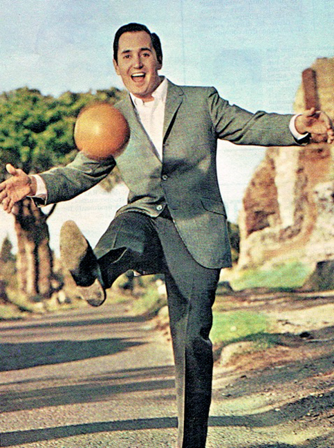 Neil Sedaka on the Appian Way, in Rome, 1964