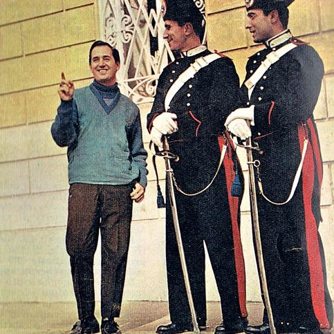 Neil Sedala a Roma con i carabinieri