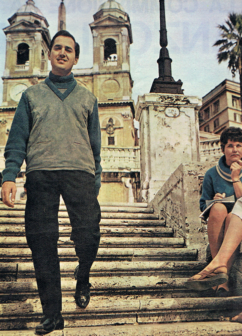 Neil Sedaka in Rome on the Spanish Steps