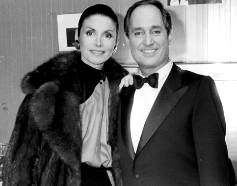 Neil Sedaka and his wife, Leba, in 1984 at the Bussoladomani, Viareggio Italy.