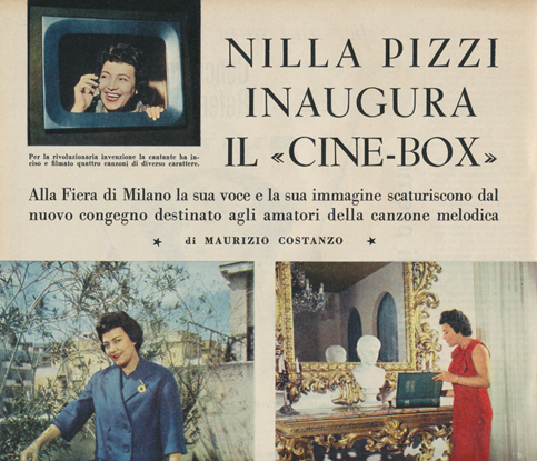 article about the Cinebox in the magazine La settimana Incom Illustrata