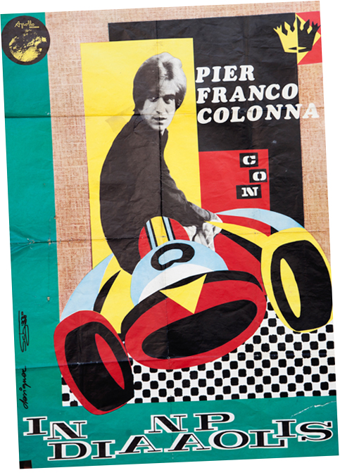Un poster originale di Pierfranco Colonna.