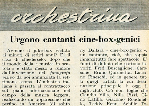 Cinebox, la prima notizia